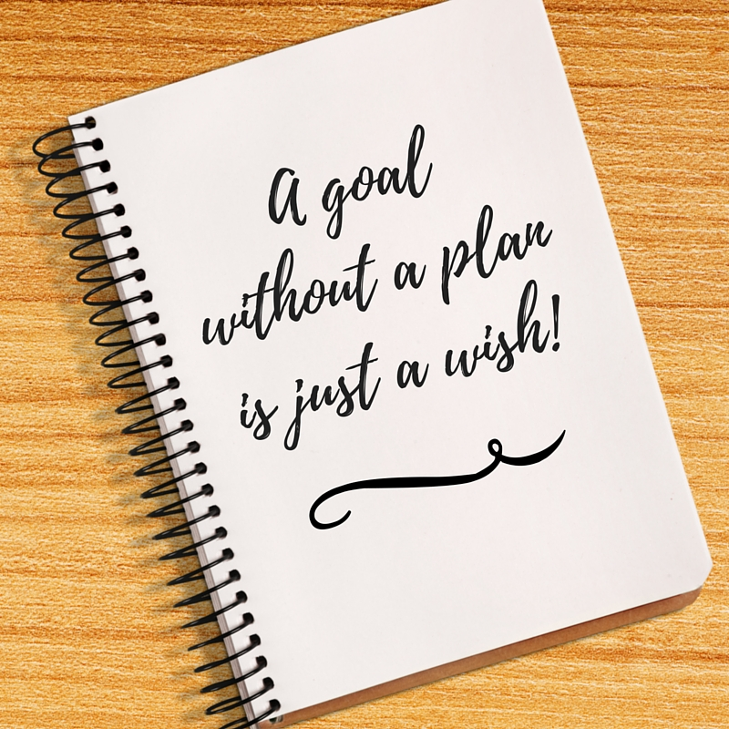 A goal without a planis just a wish